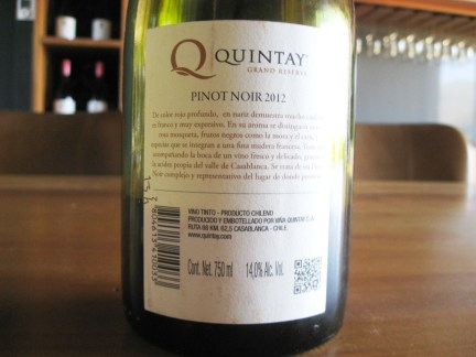 Quintay, Q Grand Reserve Pinot Noir 2012, Casablanca Valley, Chile, Wine Casual
