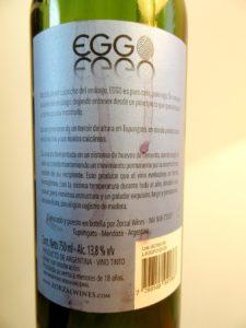 Zorzal, Eggo Franco Cabernet Franc 2014, Tupangato, Argentina, Wine Casual