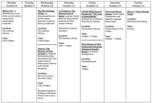International Sherry Week events organized by The Wine Thief