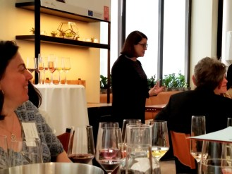 Jean Reilly, MW leads tasting of Bordeaux and German wines.