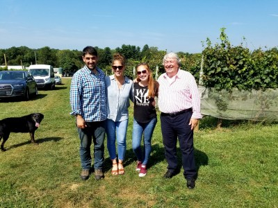 Penns Wood Winery (L-R), Davide Creato (Assistant Winemaker), Andrea Creato (Andrea Creato), Carley Razzi Mack (Co-owner & Marketing Director ), Gino Razzi (Owner & Winemaker).   Wine Casual.