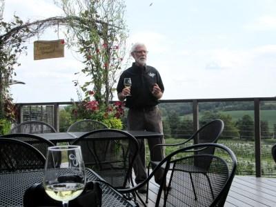 Larry Kennel, winemaker, Grandview Vineyard.