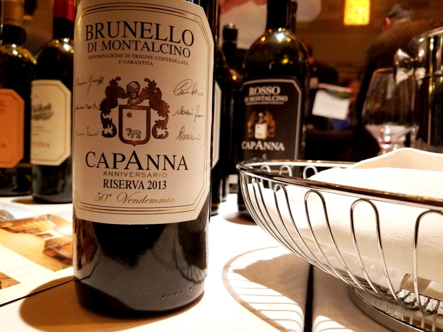 Capanna Anniversario Riserva 2013 50th Vendemmia Brunello di Montalcino, Benvenuto Brunello 2020 New York City, Wine Casual