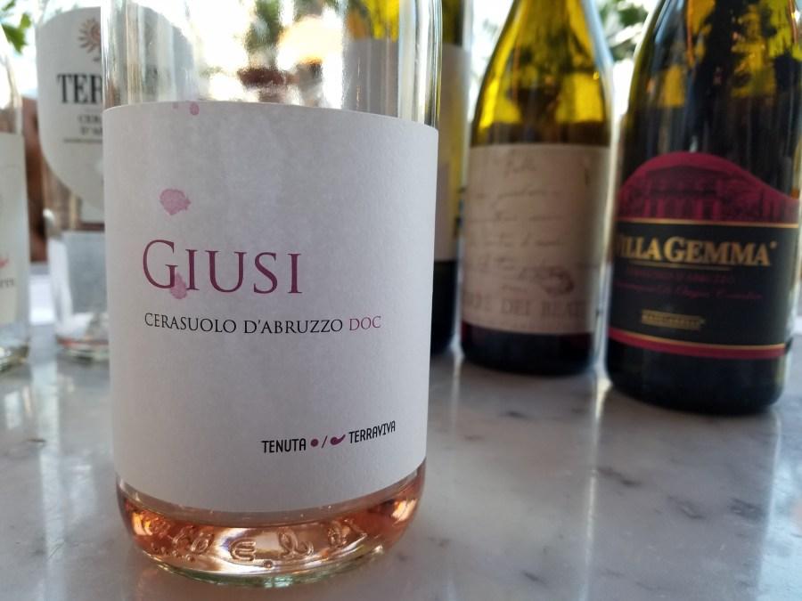 Giusi Cerasuolo d'Abruzzo DOC 2018 Tenuta, Terravivia Italy, Slow Wine New York Winetasting, Wine Casual