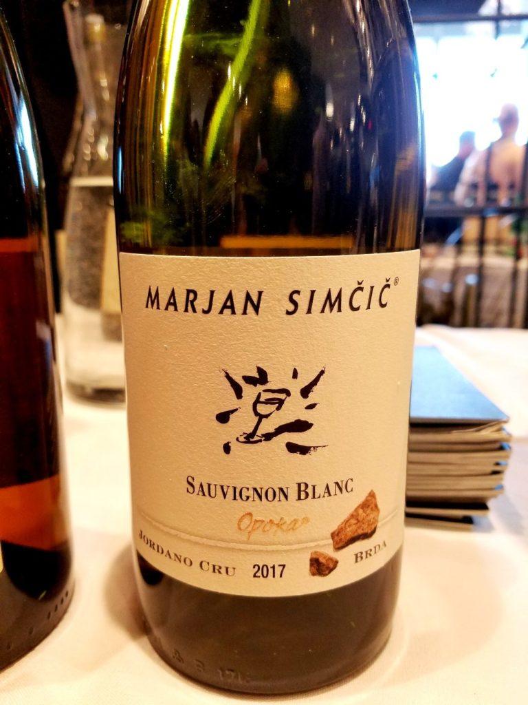 Marjan Simcic Brda Sauvignon Blanc Opoka Jordano Cru 2017 Slovenia, Slow Wine New York Winetasting, Wine Casual