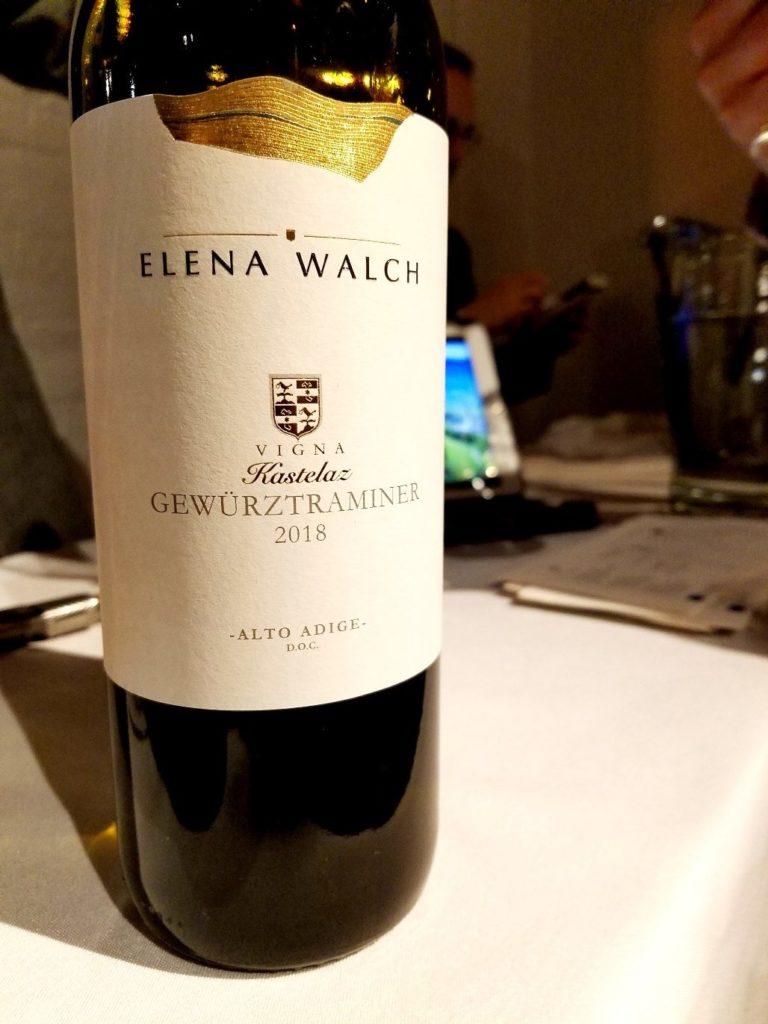 Elena Walch Vigna Kastelaz Gewurztraminer 2018, James Suckling Great Wines of Italy New York 2020, Wine Casual