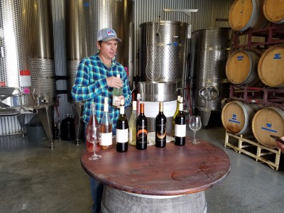 Hawk Haven Vineyard owner and winemaker pours through his top wines.  Wine Casual