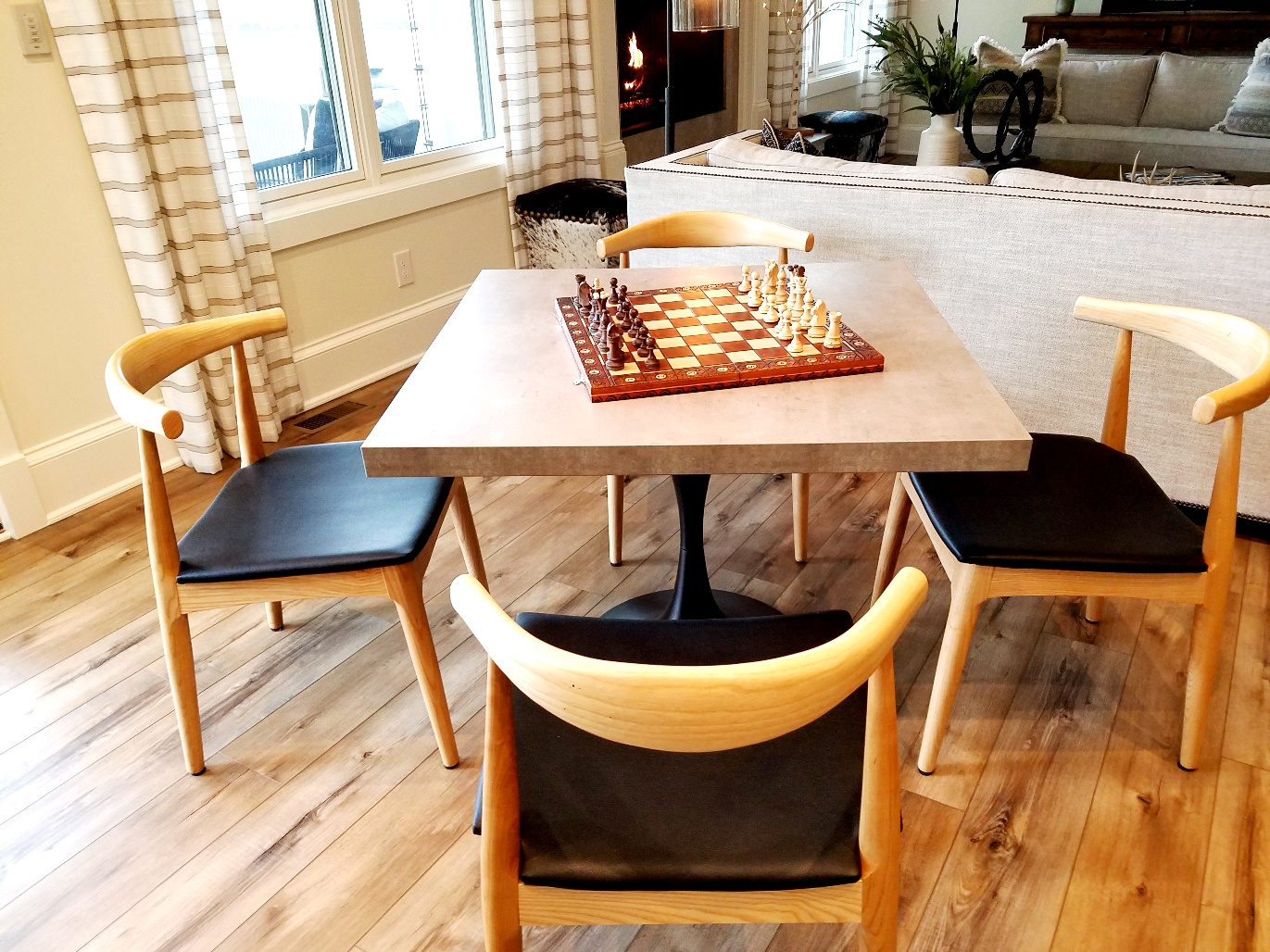 White Horse Winery Farmhouse game table. Wine Casual