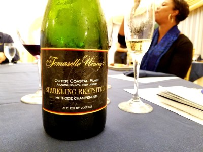 Unique among Tomasello Winery's wine list is a sparkling wine made from the ancient Georgian grape, Rkatsiteli.  Wine Casual