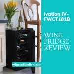 Ivation  IV-FWCT181B 18 Bottle Thermoelectric Single Zone Wine Cooler