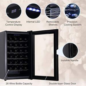 KUPPET BCW-70A 28 Bottles Thermoelectric Freestanding Wine Cooler-Chiller open