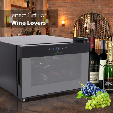 NutriChef PKTEWC806 8 Bottle Thermoelectric Red And White Wine Cooler