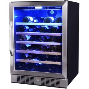 awr-520sb 52 bottle single zone builtin or freestanding wine cooler