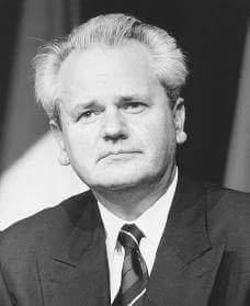 Serbian politician/president of Serbia in 1980's and 90's, Slobodan Milosevic.