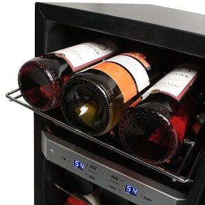 EdgeStar 21 Bottle Dual Zone Stainless Steel Wine Cooler
