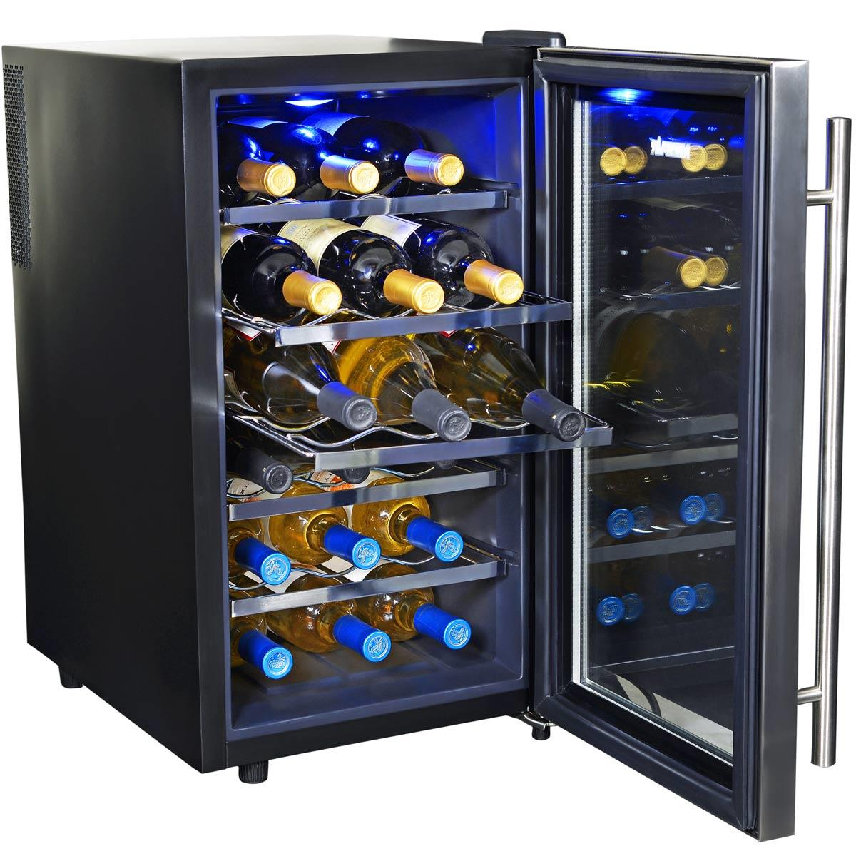The NewAir AW-181E 18-Bottle Wine Cooler Is Sturdy and Affordable