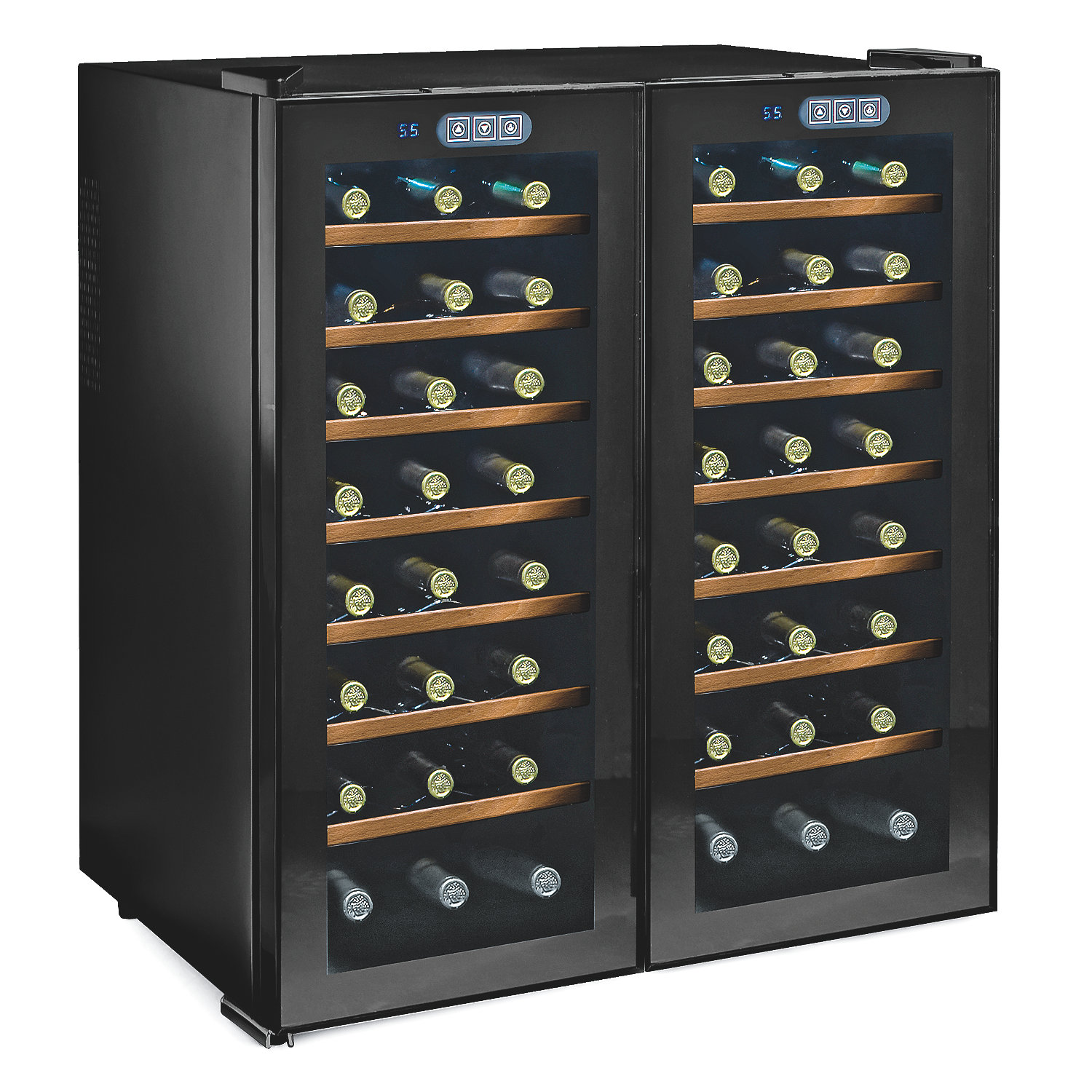 Dual Zone Support Bolsters The Wine Enthusiast 48 Bottle Free Standing  Cooler