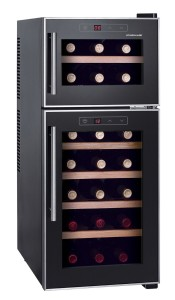 HomeImage HI-21D 21-Bottle Dual Zone Thermo Electric Wine Cooler