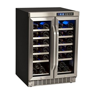 36-Bottle EdgeStar Built-In Dual-Zone French-Door Wine Refrigerator