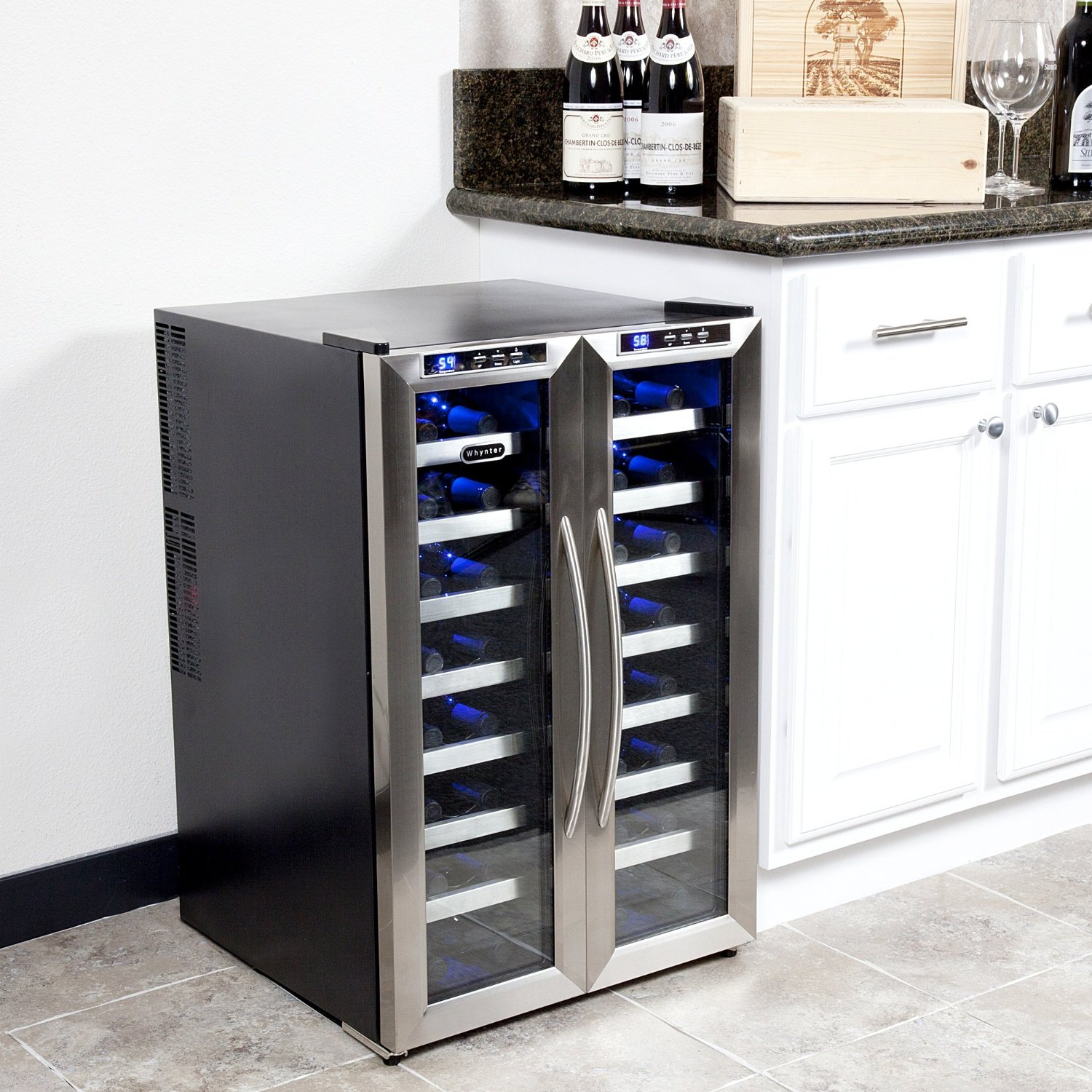 countertops kitchen refrigerator freestanding wayfair cooler countertop whynter pdx tabletop dual bottle reviews wine zone