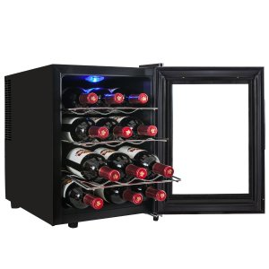 AKDY 12 Bottle Single Zone Freestanding Wine Cooler