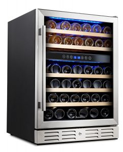 Kalamera 24'' Wine refrigerator 46 Bottle Dual Zone Built-in and Freestanding