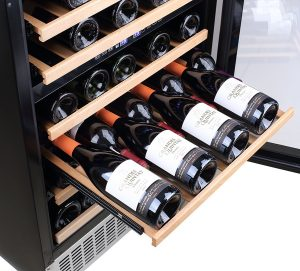 Aobosi Wine Cooler - Wood Shelves