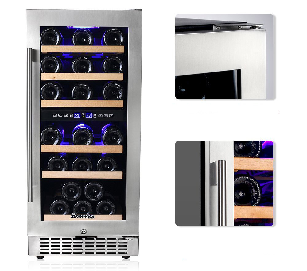 Aobosi 30 Bottle Dual Zone Wine Cooler Pros And Cons