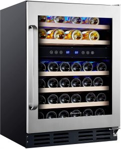 Kalamera 24'' Wine Cooler 45 Bottle Dual Zone
