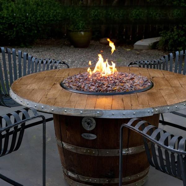 Wine Barrel Fire Pit Wood Stave Reserve Vin De Flame