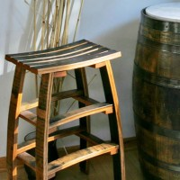 Wine Barrel Stave Backless Bar Stools - The Oak Barrel Company