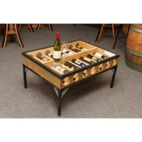 Glass Top Coffee Table Wine Rack Napa East - Wine Country ...