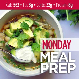 Monday Meal Prep: 10 Minute Verde Chicken Soup