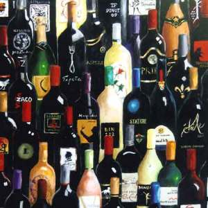 wine bottle art