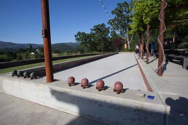 The Bocce Court at Trinchero in St. Helena