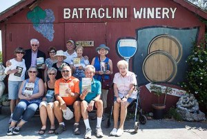 Mills Book Club meets annually at a winery