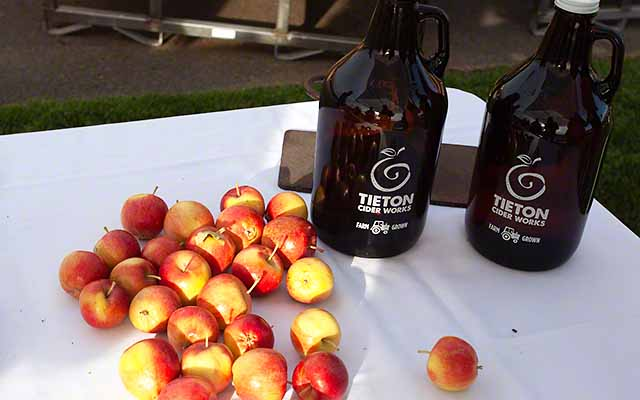 hard cider in Yakima valley wine country