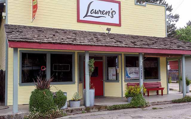 Lauren's Restaurant in the Anderson Valley