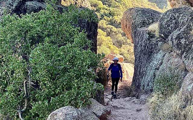 hiking in pinnacles and wine tasting
