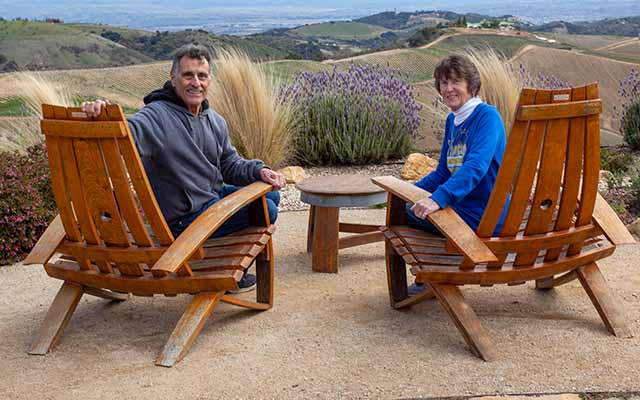 Joe and Janelle at Daou Vineyards in Paso Robles