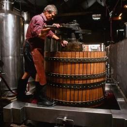 Tony Brady at the Basket Press, Wendouree © Milton Wordery