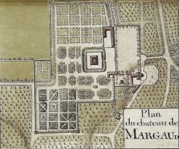 18th Century Map of Chateau Margaux