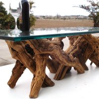 Glass And Driftwood Coffee Table For Nature Lovers ...