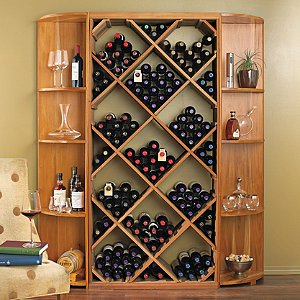 NFINITY DIY Diamond Bin Amp Dual Quarter Round Shelf Wine