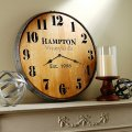 Personalized wine barrel head wall clock wine enthusiast