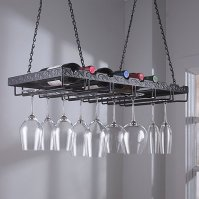 Metal Hanging Wine Glass Rack - Wine Enthusiast