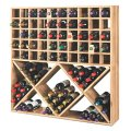 Jumbo bin grid 100 bottle wine rack unstained wine enthusiast