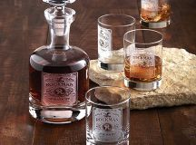 Personalized Etched Whiskey Label Decanter and Glasses Set ...