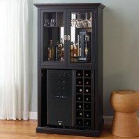 Firenze Wine and Spirits Armoire Bar with 32 Bottle ...