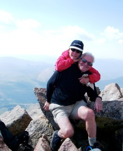 Dani and I at the top of Mt. Bierstadt in the central Colorado Rockies.